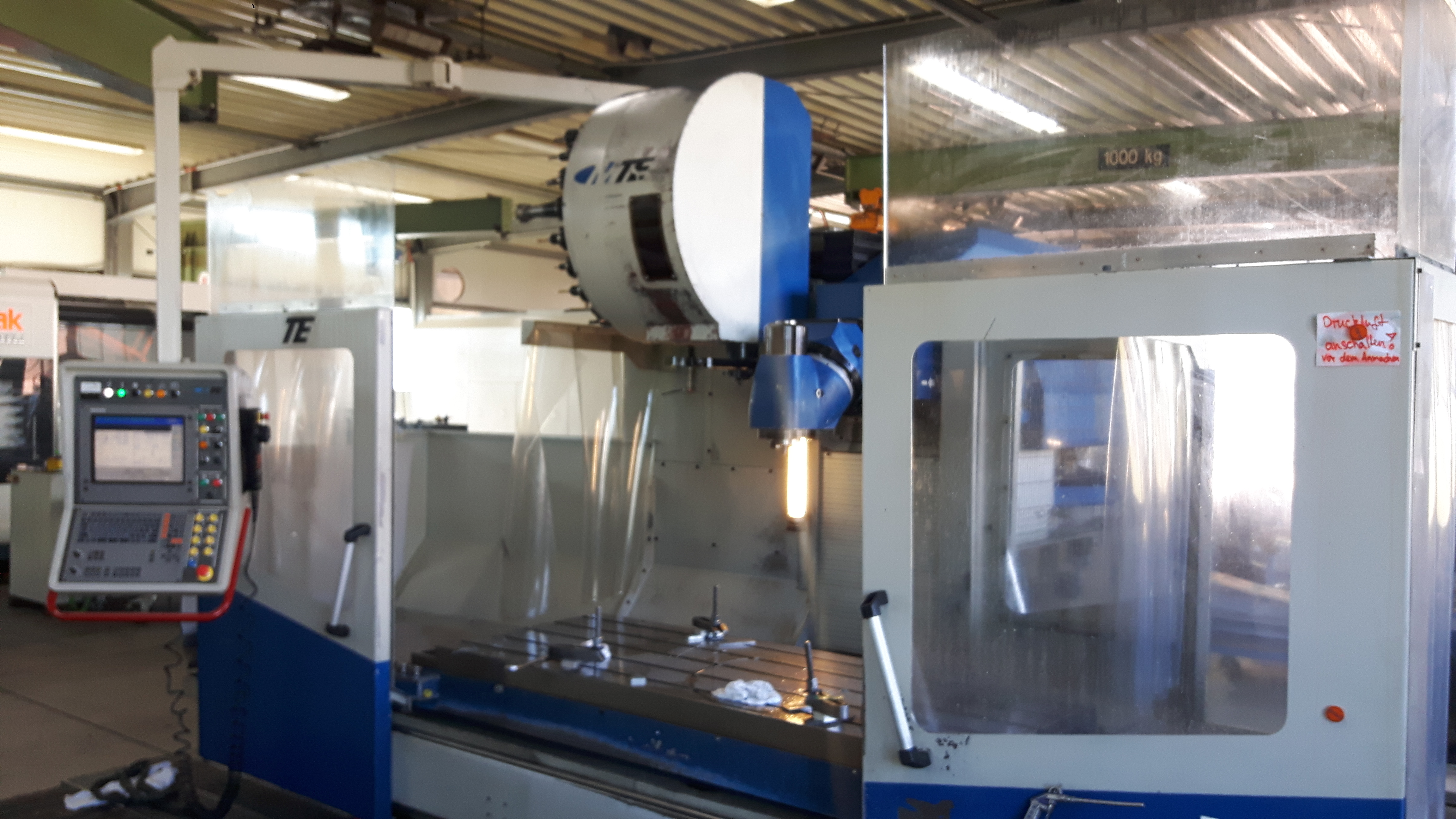 Unser Neuzugang CNC- Bettfräsmaschine MTE K 20  mit Wzg. Wechsler